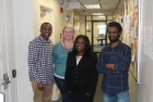 NCAS HU Fellows (L) L. Cooper, M.Lataille, F. Lawrence, and S. Gebremariam